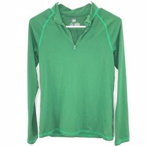REI Green Long Sleeve Baselayer Half Zip Shirt L